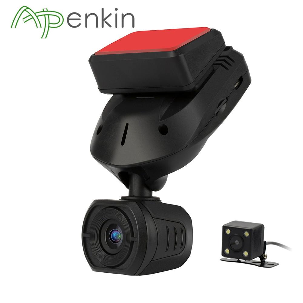 Arpenkin Mini Q9 Voiture DVR Dash Caméra Arrière vue Avec Condensateurs FHD 1296 p Mode Parking GPS Détection de Mouvement Rotation 330 Degrés
