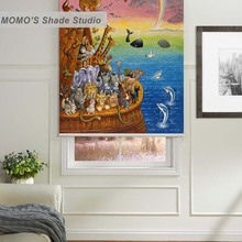 MOMO Thermal Insulated Blackout Fabric Custom Cartoon Kids Window Curtains Roller Shades Blinds Shutter,PRB set6-9