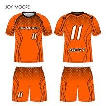 ec12ad17037 JOY MOORE orange black Football Custom Sponsor Number Include Sublimation  Printing