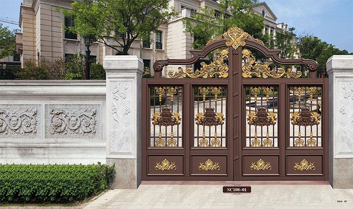 Home Aluminium Gate Design / Steel Sliding Gate / Aluminum Fence Gate Designs Hc-ag6