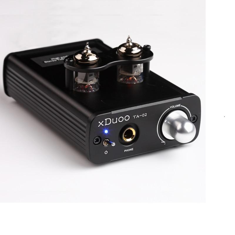 цена на XDUOO TA-02 High Performance 6J1x 2 Stereo HiFi Headphone Tube Headphone Amplifier (Dual Tube AMP + Class A BUF)