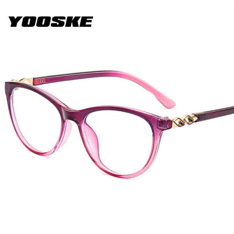 YOOSKE Computer Glasses Blue Light Blocking Eye Glasses Women Transparent Optical Eyeglasses Anti-Fatigue Radiation Eyewear