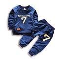 2-6 Niños Del Otoño Que Arropan Muchachas de Los Muchachos Caliente Suéteres de Manga Larga + Pants Niños Ropa de Moda Juego de Los Deportes para Las Niñas