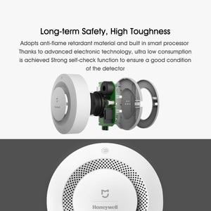 Image 4 - Oryginalny Xiaomi Mijia Honeywell detektor alarmu pożarowego Alarm dźwiękowy i wizualny praca z bramą czujnik dymu inteligentny pilot domowy