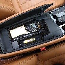 Для BMW New 5 серии G30 2017 2018 Пластик автомобиль центральной консоли коробка для хранения телефона лоток аксессуары с коврик