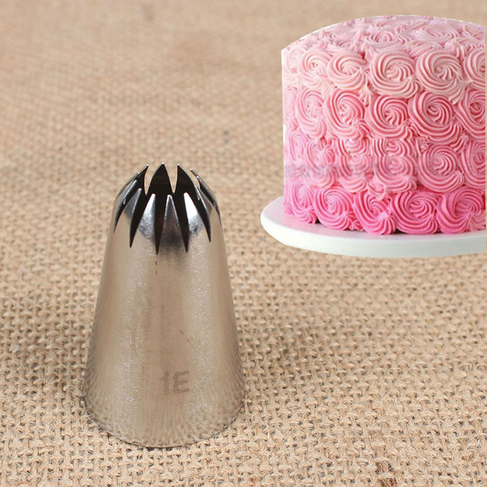 #1E Large Metal Cream Tips Stainless Steel Piping Icing Nozzle Pastry Decor Tool