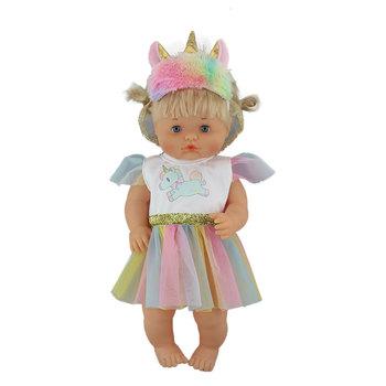 Ubrania jednorożca pasują do 40cm 41 cm Nenucos Doll Nenuco Ropa Hermanita fioletowe długie rękawy T-shirt fioletowe kropki spodnie z kapeluszem tanie i dobre opinie Tkaniny Suit Dress Akcesoria dla lalek Unisex Moda