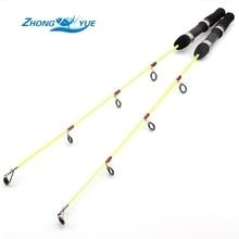 Lowest profit 2pcs Lightweight Ice Fishing Pole 60cm 55g Ice Fishing Rod Winter Fishing Casting Rod Fishing Tackle Free shipping