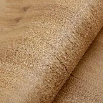 Papier De Grain De Bois   Papier Peint Vintage Auto-adhésif De Grain De Bois De Tapety Pour Des Murs Rouleau Imperméable De Papier Peint De Garde-robe De Meubles De Porte De Film De Vinyle 5 M