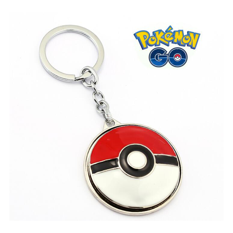 ORP Anime game theme products Pokemon Go Keychain logo key chain Pendant fine accessories wholesale