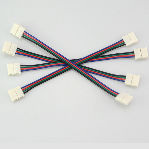 4pin Rgb Led Strip No Soldering Double Connector Clip