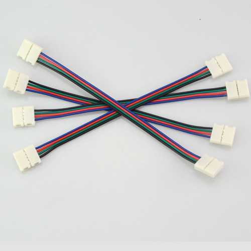 4pin rgb led strip no soldering double connector clip cable led tape 4pin rgb led strip no soldering double connector clip cable led tape extension wire for 3528 5050 rgb strip light accessories in connectors from lights aloadofball Choice Image