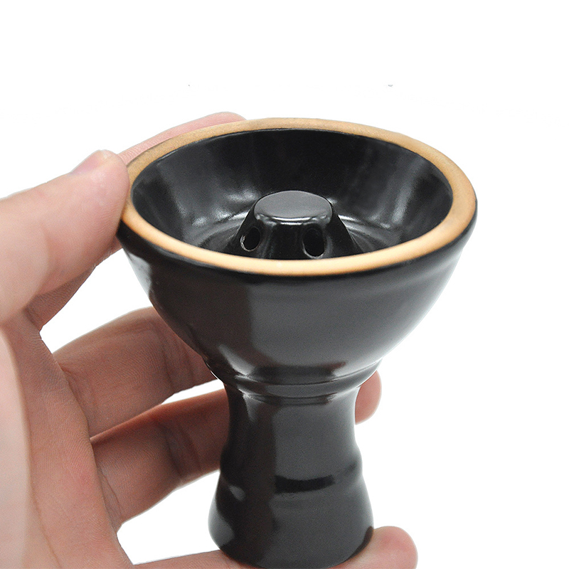 Ceramic Vortex Shisha Hookah Bowl Diameter 7cm Height 8cm 2 Colors With Holes In The Top Tower Advanced Version Of The Phunnel