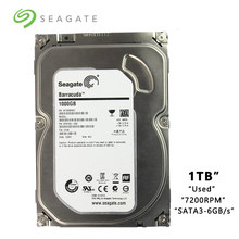 "Disco Duro mecánico interno SATA 3-6 Gb/s HDD 3,5 GB 1000 RPM 8 MB/32 búfer MB marca Seagate 1TB PC de escritorio 7200""(China)"