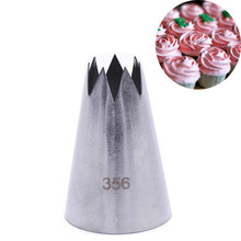 #356 Cake Cream Decoration Tip Pastry Tool Stainless Steel Piping Icing Nozzle