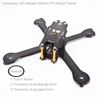 IFlight Compatible Material Ultimate IX5 Modeling FPV Racing Frame Kit Compatible Foxeer HS1190 Camera Dalprop 5045