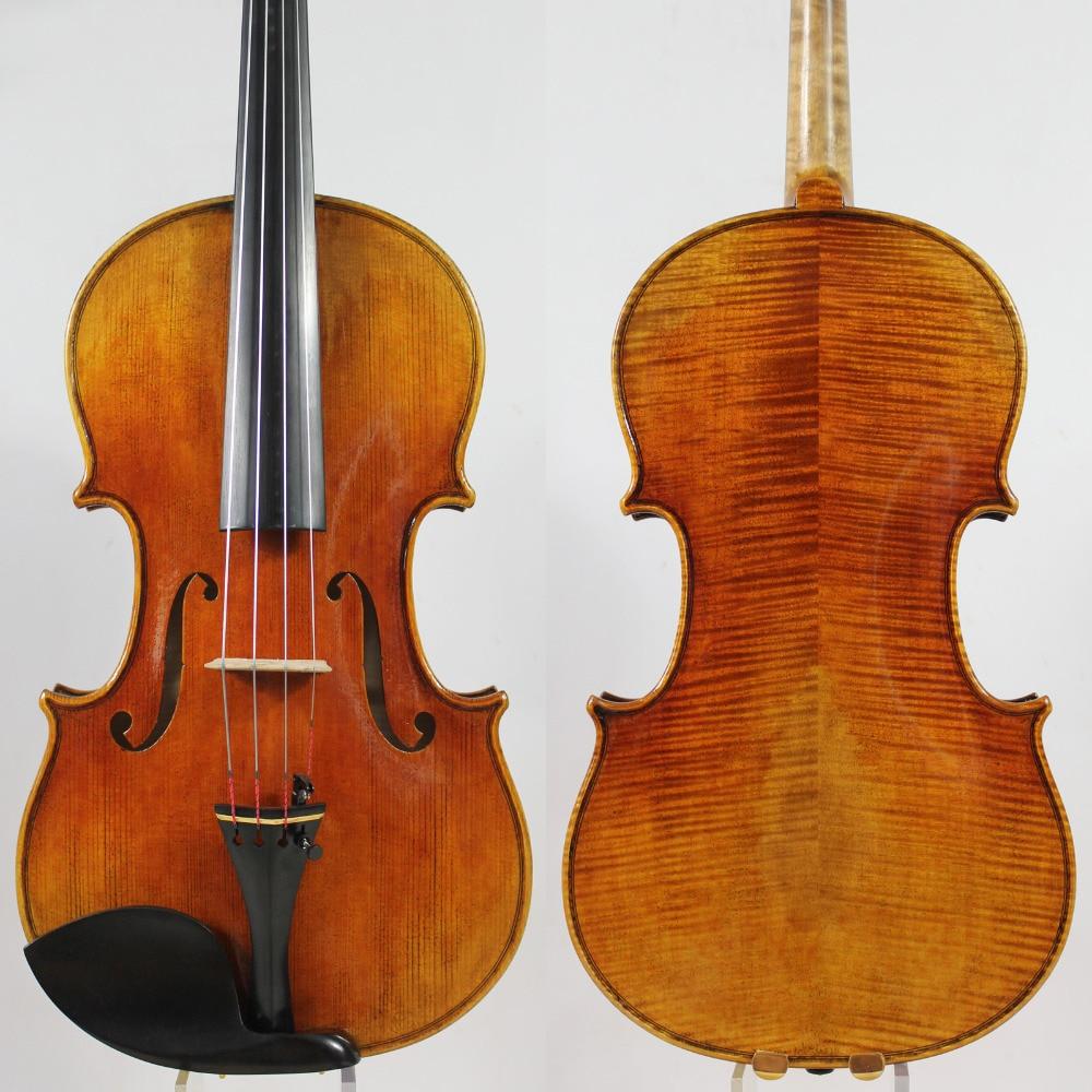 ¡Top barniz de aceite! ¡Copia Antonio Stradivari 15 -16,5 Viola toda la madera europea M7043 tono potente! ¡Envío libre del ccsme!