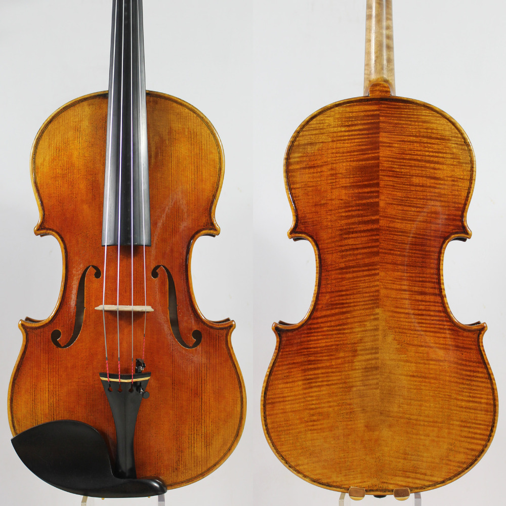 """Լավագույն յուղի լաք: Պատճեն Antonio Stradivari 15 """"-16.5"""" Viola """"All European Wood"""" M7043 Հզոր տոն: EMS անվճար առաքում:"""