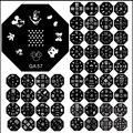 Precio más bajo Caliente QA Estampar Placas de Uñas Kits 100 unids imagen Del Arte Del Clavo Herramienta Del Clavo de La Impresora Del Clavo Que Estampa la placa QA1-60