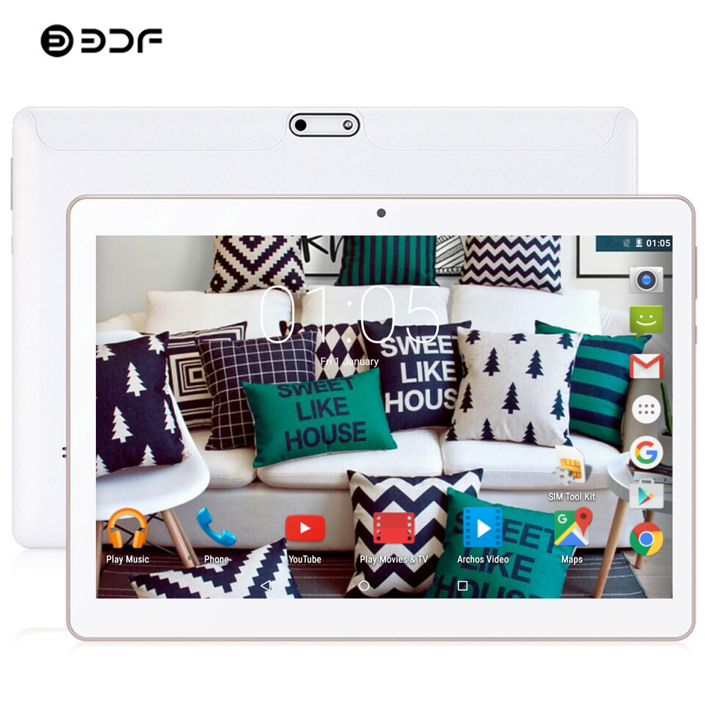 BDF Android <font><b>Tablet</b></font> 10 Inch 3G Anruf <font><b>Tablet</b></font> Pc Android 7.0 Octa Core 4GB <font><b>RAM</b></font> 64GB ROM 1280*800 IPS LCD Pc <font><b>Tablet</b></font> 7 8 9 10 image