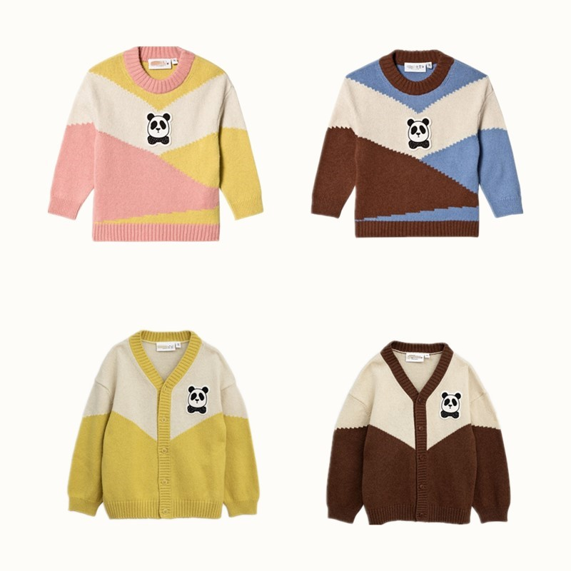 BOBOZONE 2018 Panda Knitted Cardigan Sweater Brown Panda Knitted Cardigan Sweater Pink for kids boys girls cotton yz l1 diy 10w 900lm 3200k warm white light module 9 10v