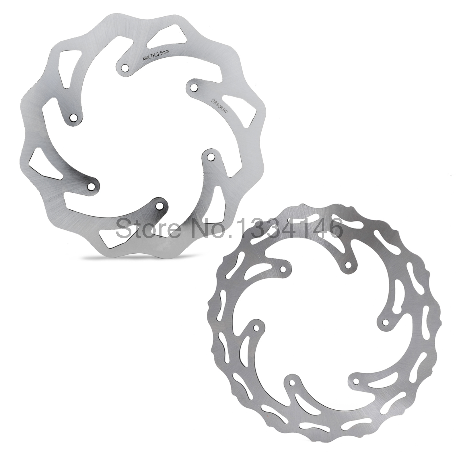 Фотография Front Rear Steel Brake Discs Rotors For KTM 125 200 250 300 390 400 500 525 530 SX SXF EXC EXCF XC XCW XCF XCFW SMR