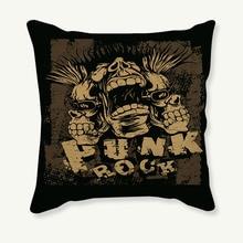 Vintage Punk estilo funda de algodón de lino impreso banda genial Casa de Silla, sofá o coche Cojín cuadrado almohada 45*45cm