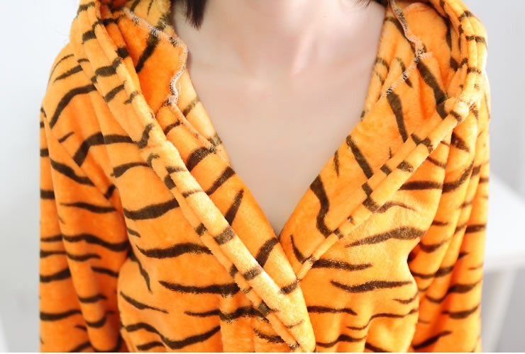 Tiger Bathrobe Nightgown Robe Sleepshirt Nightwear Sleepwear Night ...