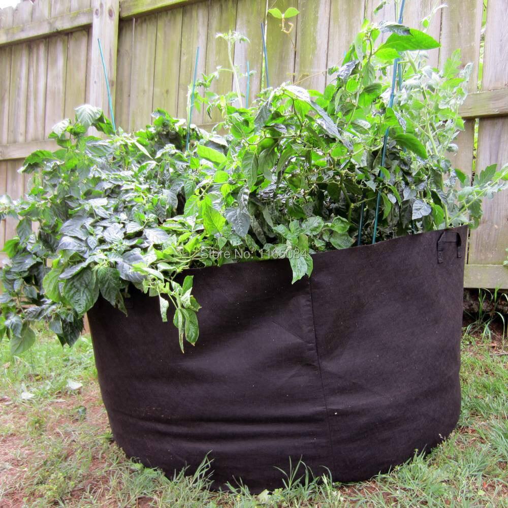 Pocketgarden 10 Gallon Planting Bags Planting Bag/ Plant Pots For Potatoes  Tomatoes Vegetable Balcony Non Woven Felt Plant Pots In Flower Pots U0026  Planters ...