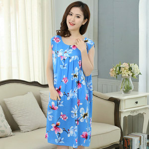 Image 3 - Women Plus Size L  XXXL Floral Sleep Shirt Dress Nightgown Women Cotton Nightdress Nightshirt Ladies Nightwear Pijama Sleepwear