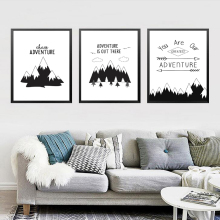 Abstract Mountain Wall Art Print Poster Fashion Modular Picture Canvas Adventure HD2231