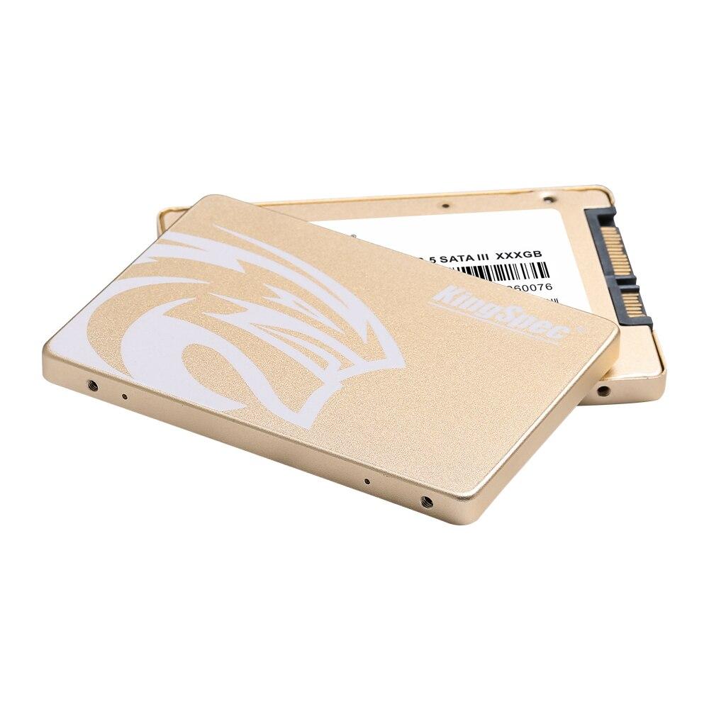 KingSpec SSD HDD 2.5 SATA3 SSD 480 go SATA III 500 go SSD 7mm Interne Solid State Drive Or boîtier métallique pour pc de bureau portable - 5