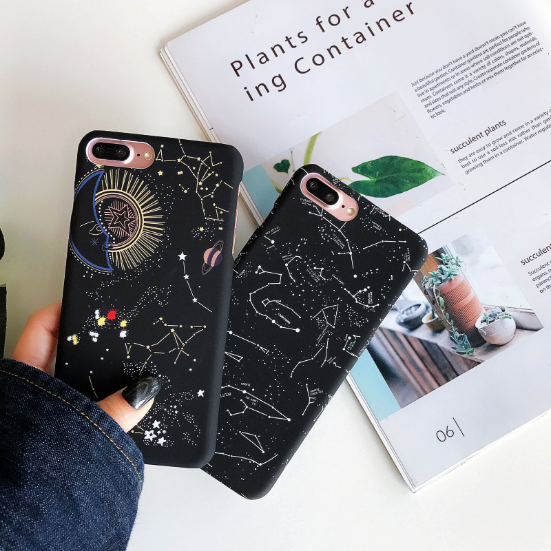 KIP7P1253H_1_JONSNOW Phone Case For iPhone 6 6S 7 8 Plus Earth Planet Starry Sky Patterns PC Hard Case for iPhone X XR XS Max Back Cover Capa Fundas