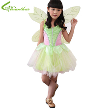 Girls Halloween Costumes Tinker Bell Dress Cosplay Stage Wear Clothing Sets Kids Party Fancy Ball Clothes