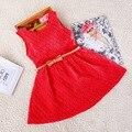 Envío gratis 2016 Nueva Moda Vestidos de Niña de vestido Del Bebé Del Verano Plisado de Gasa Vestido de Una sola Pieza Infantil 4 estilo