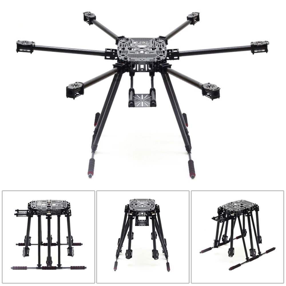 ZD850 Full Carbon Fiber Frame Kit with Unflodable Landing Gear Foldable Arm + 6-axle Hub Set for DIY FPV Aircraft Hexacopter zd850 full carbon fiber frame kit with unflodable landing gear foldable arm 6 axle hub set for diy fpv aircraft hexacopter