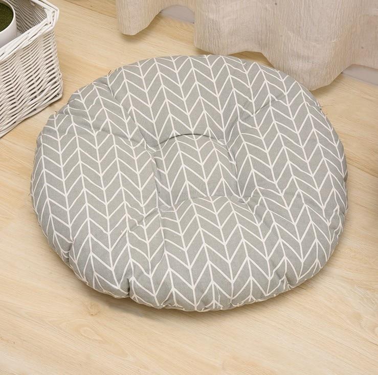 HTB1BTR pQUmBKNjSZFOq6yb2XXar Round Shape 2 Size Seat Cushion Silk Cotton Core Cotton Polyester Tatami Cushion Pillow Home Decoration Car Soft Sofa Cushion