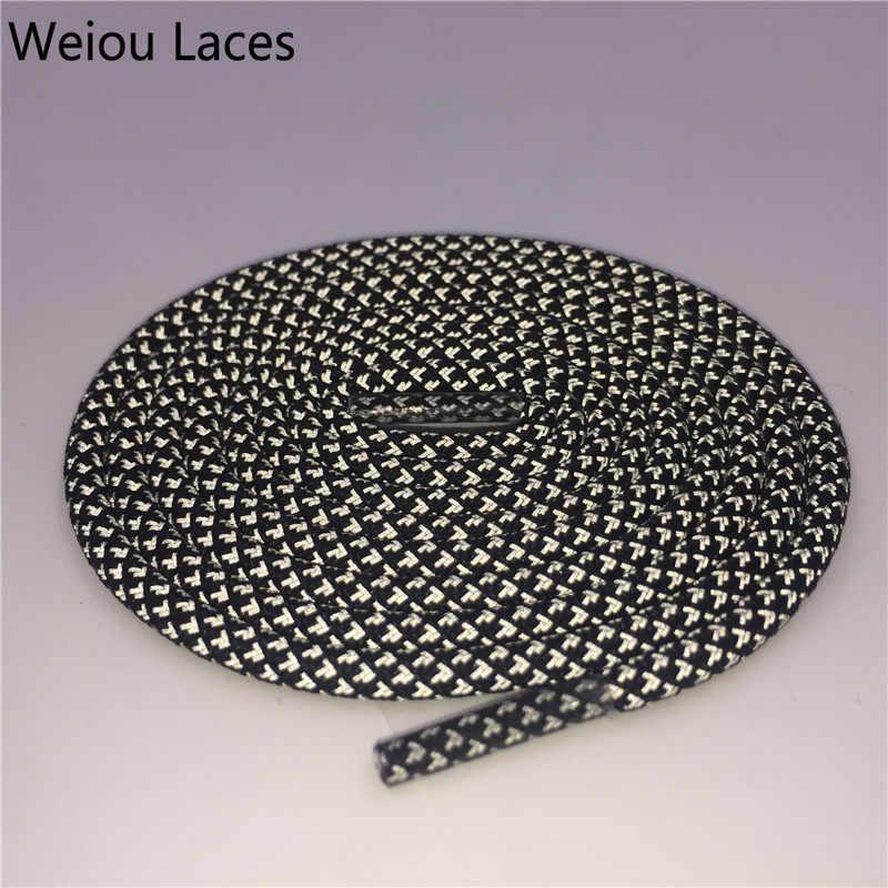 Weiou 3 M Yuvarlak Yansıtıcı Ayakkabı Bağcıkları Yüksek Görünürlük Halat Danteller Shoestrings Güvenlik Vurgulamak Ayakabı Erkekler Kadınlar Çocuklar Için V2 350