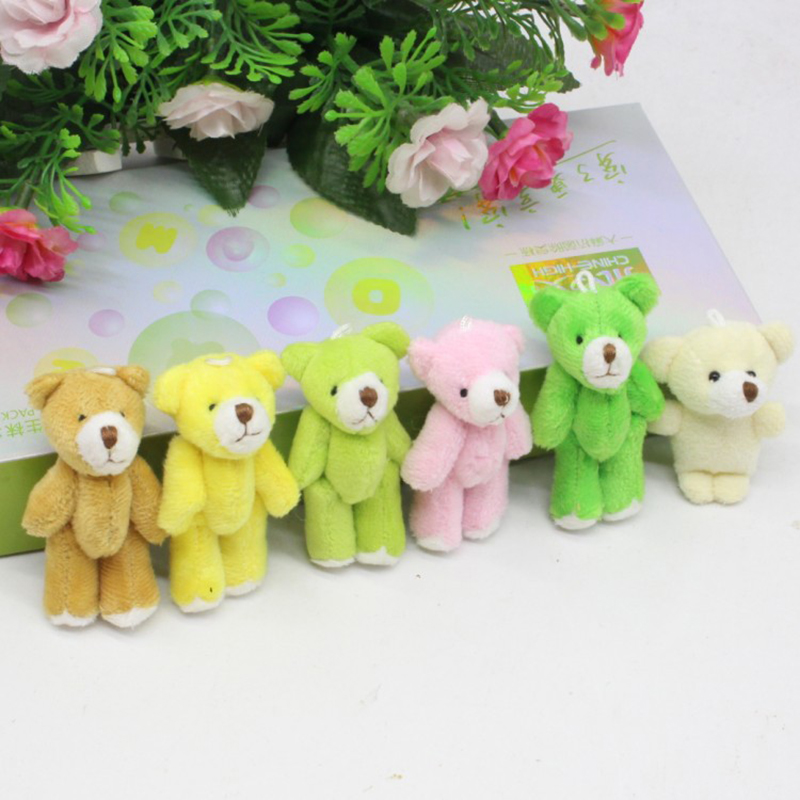 Plush Toy Color Joint Bear Doll DIY Handmade Jewelry Children's Toy Bag Accessory Teddy Bear Doll Gift For Children 6 CM the lovely bow bear doll teddy bear hug bear plush toy doll birthday gift blue bear about 120cm