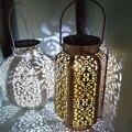 Солнечный фонарь висящая Тыква свет LED столб двора патио ручной настольная лампа сад Ночная лампа орнамент наружное освещение