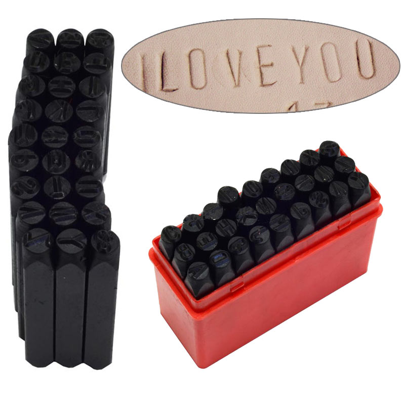new letter stamp punch set hardened steel metal alphabet letter wood leather punch tool craft