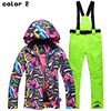 New High Quality Women Skiing Jackets And Pants Snowboard Sets Thick Warm Waterproof Windproof Winter Female