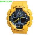 SANDA 19903 Спортивные Часы Автоматическая водонепроницаемые часы Мужчины Мода высокое качество мужская известный светодиодные часы армия шок наручные часы военные