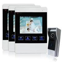 Homefong 4 pulgadas timbre video portero sistema de intercomunicación del monitor de grabación de vídeo de fotos toma de altavoz del teléfono de puerta de intercomunicación