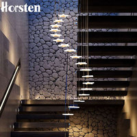 Modern Duplex Staircase LED Pendant Lights Personality 18 Stars Hanging Lamps Minimalist Staircase Lamp Living Room 220V