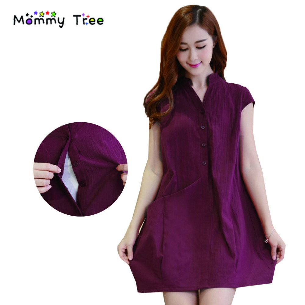 897999550c3 Summer Casual Nursing Clothes Breastfeeding Dress Breast Feeding Clothing  for Feeding Maternity Dresses for Pregnant Women
