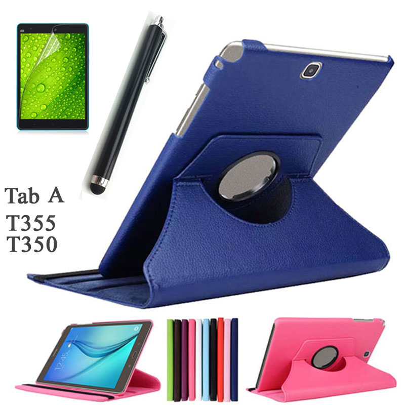 HOT!High Quality Rotating Stand Case For Samsung Galaxy Tab A 8.0 T350 T355 P355 Luxury Fashion Tablet PU Leather Cover