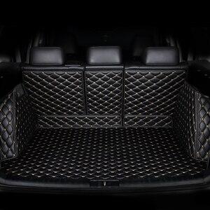 Image 1 - Коврик для багажника автомобиля kalaisike под заказ для Mercedes Benz все модели C ML GLA GLE GL CLA R A B GLS GLC класс автомобильные аксессуары Стайлинг