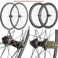 700C Road Disc Brake 6 Bolt Hubs 30mm 40mm 45mm 55mm Carbon Clincher Carbon Bike Bicycle Disc Wheelset Cyclocross Wheels