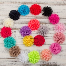 10pcs/lot 10CM 20colors Hair Clips Chic Blossom Eyelet Flowers For Kids Hair Accessories Artificial Fabric Flowers For Headbands